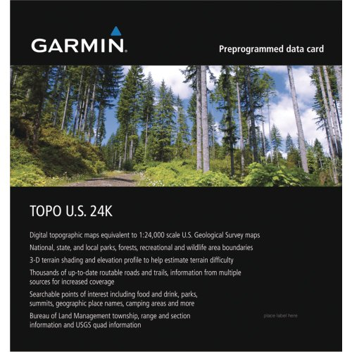 Garmin MapSource Southwest Topographic Coverage