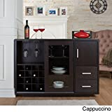 Furniture of America Julienne Modern Sliding Door Wine Bar Dining Server (cappuccino)