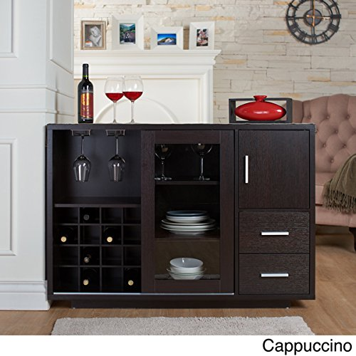 Furniture of America Julienne Modern Sliding Door Wine Bar Dining Server (Furniture Server)
