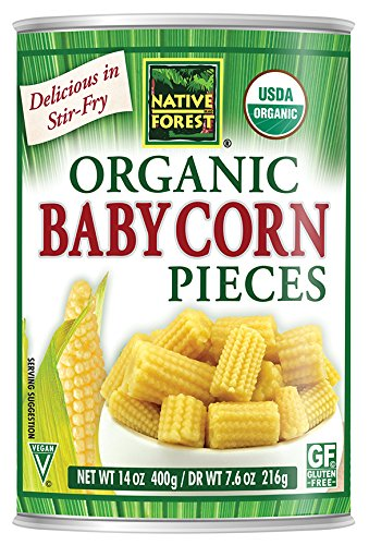 Baby Corn (Native Forest Organic Cut Baby Corn, 14-Ounce Cans (Pack of 6))