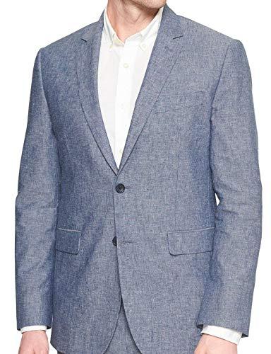 Banana Republic Men's Standard-Fit Blue Linen Blend Blazer Blue (42R Regular)