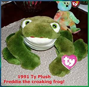 TY Classic Plush - FREDDIE the Frog (Makes Noise)