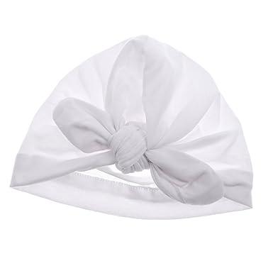 MagiDeal Bonnet Naissance Bébé Fille Coton Hiver Noeud Papillon Beanie  Bonnet Bébé 0,6 ans