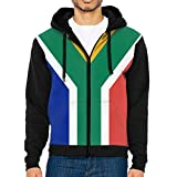 CHAN03 Flag of South Africa Men's Hooded Pullover Sweatshirt with Pockets