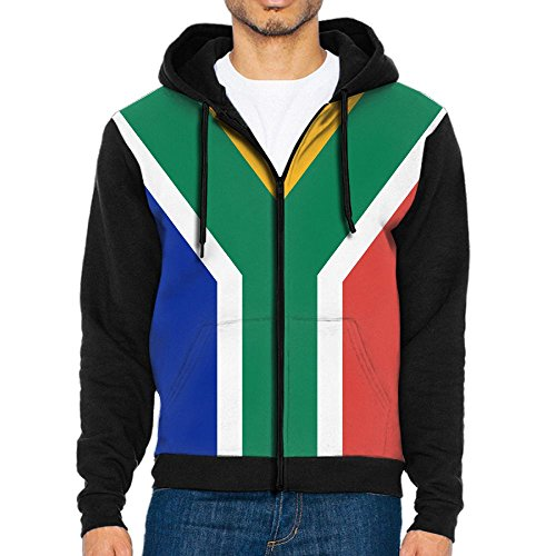 CHAN03 Flag of South Africa Men's Hooded Pullover Sweatshirt with Pockets by CHAN03