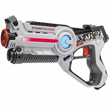 Arma de Juguete de Light Battle Active para niños - Color: Blanco - Juego de acción - LBA103: Amazon.es: Juguetes y juegos