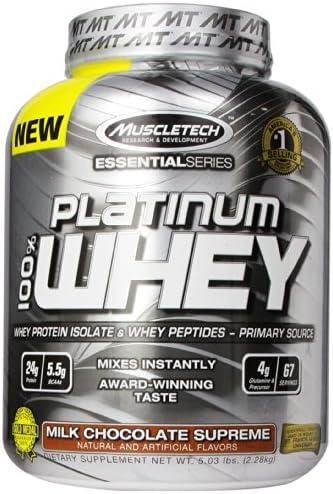 Muscletech platinum 100% whey protein 2268gr - proteina aislada de suero