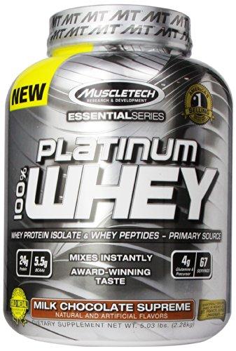 UPC 631656704983, MuscleTech Platinum 100% Whey Protein Powder, Milk Chocolate Supreme, 5.03 lbs (2.28kg)