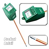 Etekcity Indoor/Outdoor Soil Moisture Sensor Meter, Plant Care Hygrometer (Green)
