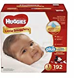 Huggies Little Snugglers Plus Diapers Size 1; 192-count-Unique Mickey, Minnie, and Pluto designs
