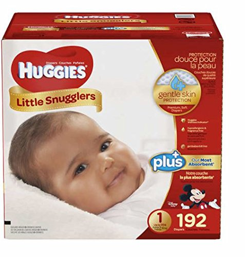 Huggies Little Snugglers Plus Diapers Size 1; 192-count-Unique Mickey, Minnie, and Pluto designs by HUGGIES