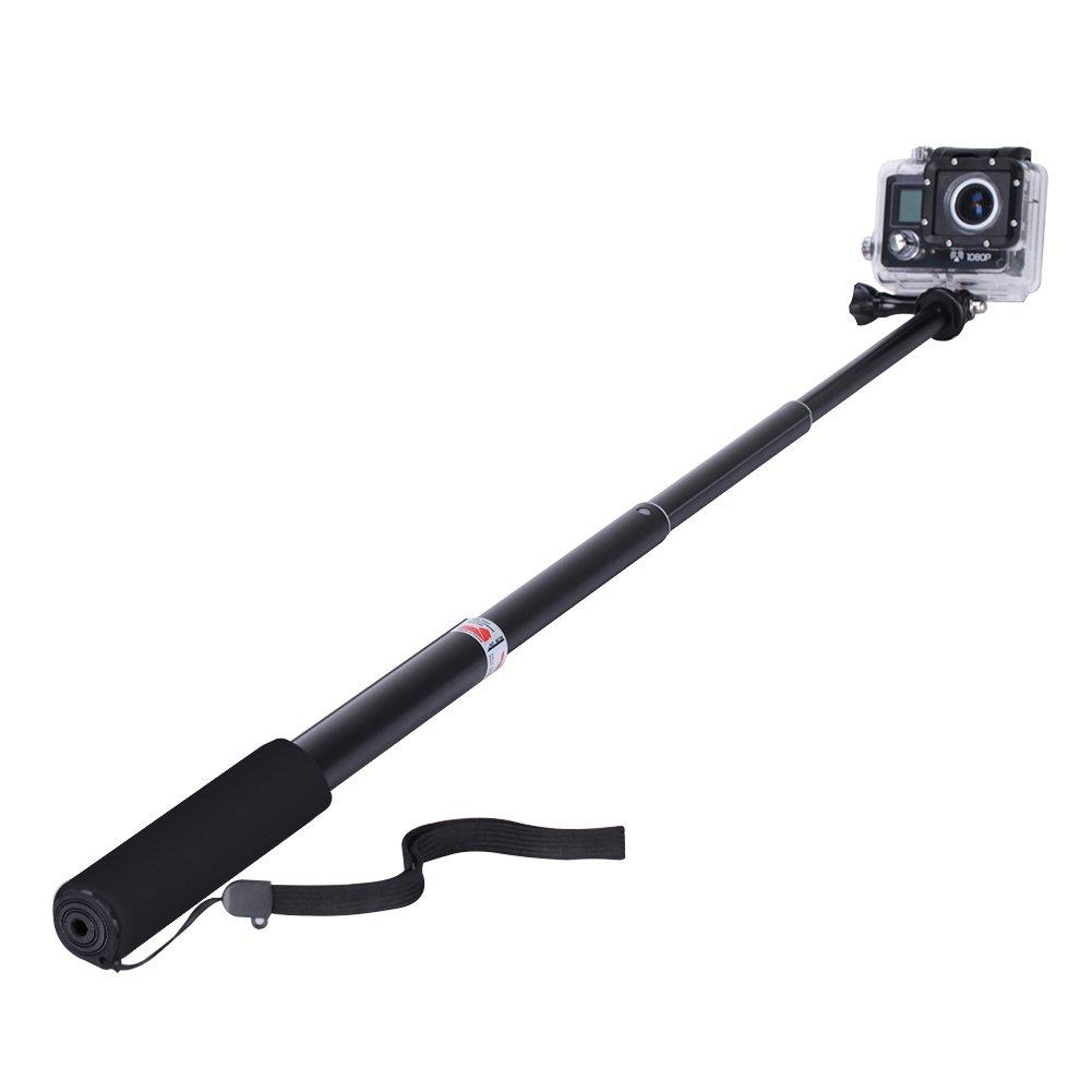 YOHOOLYO Selfie Stick for GoPro Adjustable Handheld Selfie for GoPro Hero 5/4/3+/3/2 SJ4000 SJ5000 Sony Action Cam Camera/Canon / Nikon Smile&Satisfaction