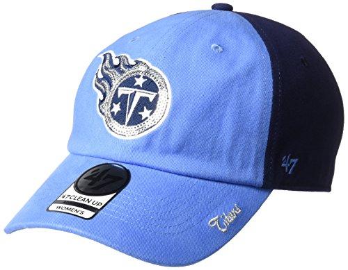 '47 NFL Denver Broncos Women's Sparkle Two Tone Clean Up Adjustable Hat, One Size, Light Navy (Denver University Hat)