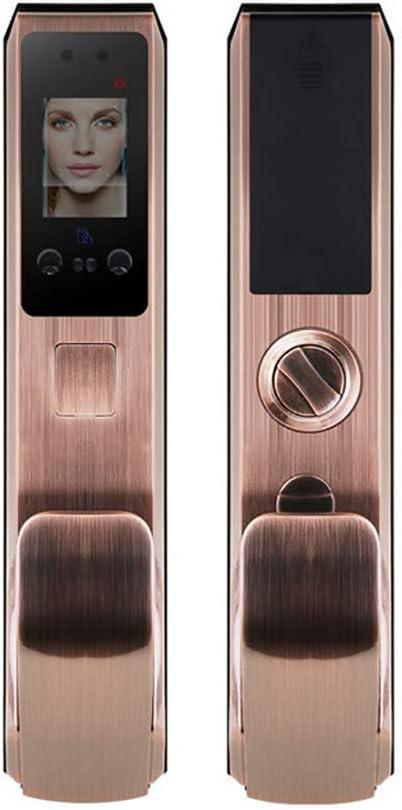 Palm Print Unlock,7-in-1 Unlocking Method Face Recognition Keyless Smart Door Lock,Digital Electronic Biometric Smart Locks,Intelligent Access Card Unlock