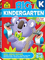 School Zone - Big Kindergarten Workbook - Ages 5 to 6, Early Reading and Writing, Numbers 0-20, Matching, Stor