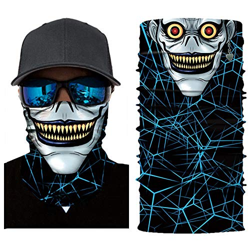 (3D Print Face Masks Casual Balaclava Headwear Stretchable Bandanna Headbands Wind/Sun/UV Protection for Cycling,Motorcycling,Fishing,Hunting,Hiking,Yard Working and Other Outdoor Activities (F))