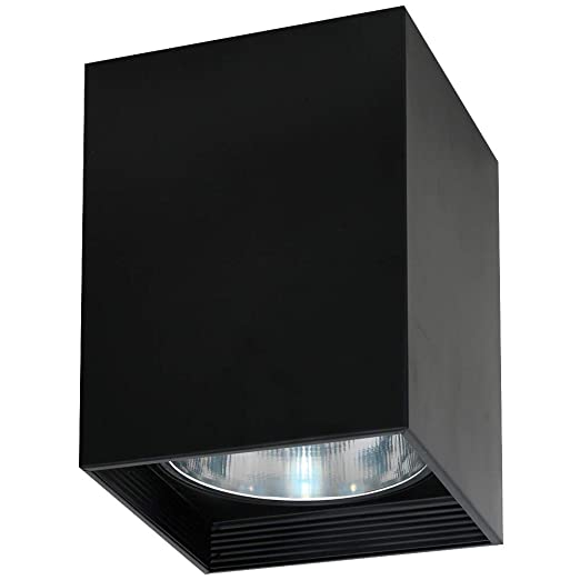 Elegante lámpara de techo en Negro Bauhaus Diseño 1 x E27 ...