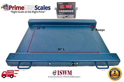 1,000 LB x 0.2 LB, Optima Scale OP-917 Lightweight, Portable Drum Scale 32''W x 30''L With NTEP Mild Steel Indicator Package NEW !!! by Optima