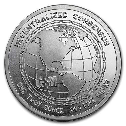 Cryptocurrency Collection Bitcoin 1 oz .999 Silver USA Made BU Bullion Round