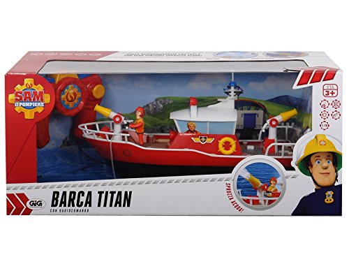 dickie toys le bateau de sauvetage radiocommand titan sam le pompier voiture t l guid e rouge. Black Bedroom Furniture Sets. Home Design Ideas