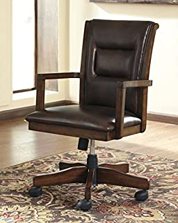 signature design by ashley h619 01a devrik collection home office desk chair brown alymere home office desk
