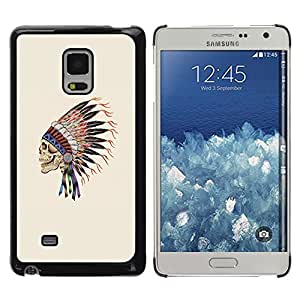 Paccase / SLIM PC / Aliminium Casa Carcasa Funda Case Cover - Indian Headgear Feathers Chief Native - Samsung Galaxy Mega 5.8 9150 9152