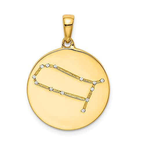 JewelryWeb - Colgante de Plata de Ley con circonita cúbica y circonita cúbica: Amazon.es: Joyería