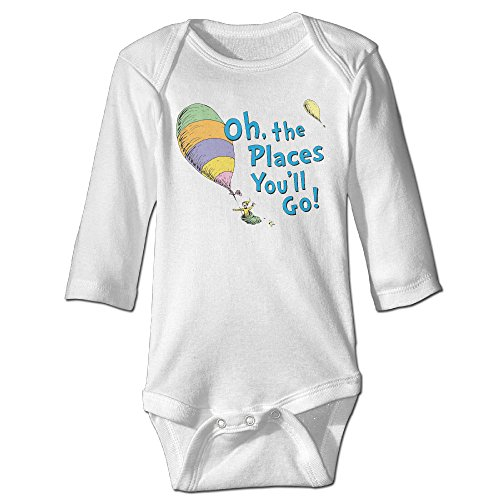 Unisex Baby Oh, The Places You'll Go Baby Onesies Long Sleeve Bodysuit]()