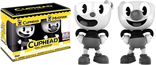 Funko Cuphead And Mugman Black And White NYCC 2017 Vinyl Collectible Figures LE 2500