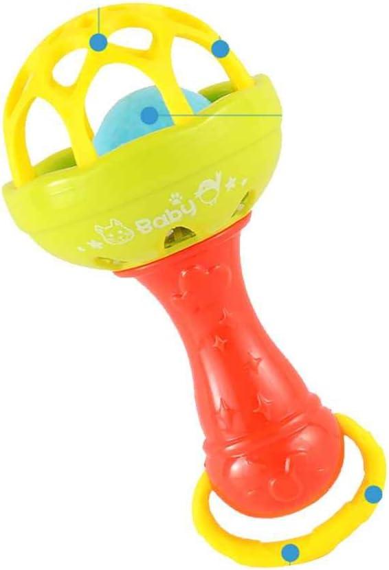 TKQIrene Hochet Jouets Petite Boule Cloche Fort Jouets poign/ée de Bell Balle Jouet Nouveau-n/é Saisissant Toy Clochettes Anneau poign/ée Jouets Couleur al/éatoire