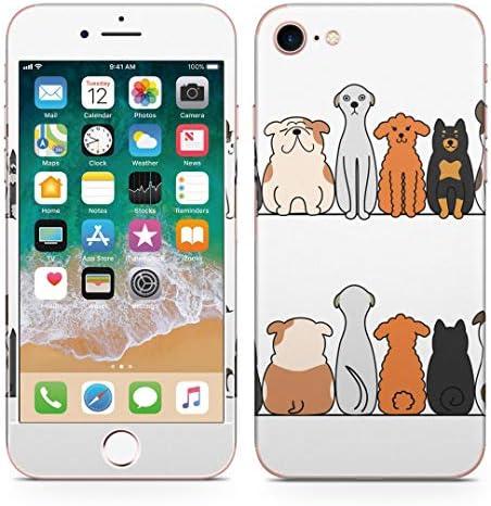 igsticker iPhone SE 2020 iPhone8 iPhone7 専用 スキンシール 全面スキンシール フル 背面 側面 正面 液晶 ステッカー 保護シール 009614 犬 動物 キャラクター
