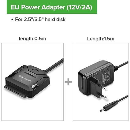 SUNDELLAO SATA a USB 3.0 Adaptador USB 2.0 a SATA de 3 convertidor ...