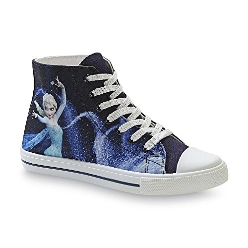 Disney Frozen Womens High Top Elsa Sneaker Shoe - Ice Queen H6xOyyzHh