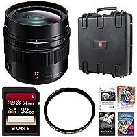 Panasonic H-X012 LUMIX G LEICA DG SUMMILUX Lens, 12mm, F1.4 ASPH Bundle