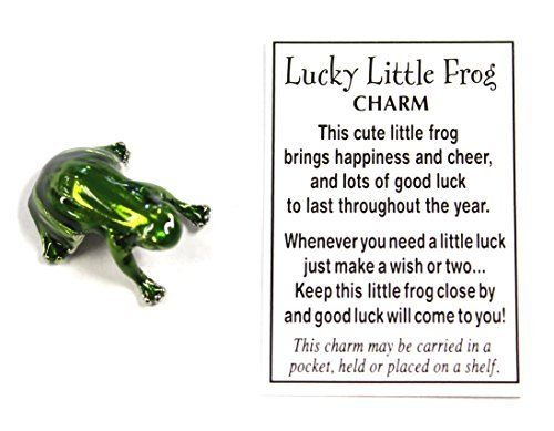 Frog Lucky - Ganz Lucky Little Frog Charm with Story Card!