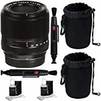 Fujifilm 60mm f/2.4 XF Macro Lens + SLR Lens Pouch + Lens Cleaning Pen Bundle 4