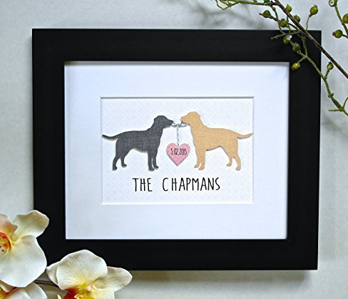 Perfect Valentine Gift For Dog Lovers! 3D Custom Dog Art - ANY BREED and COLORS! - Unique Wedding Gift, Personalized Dog Print
