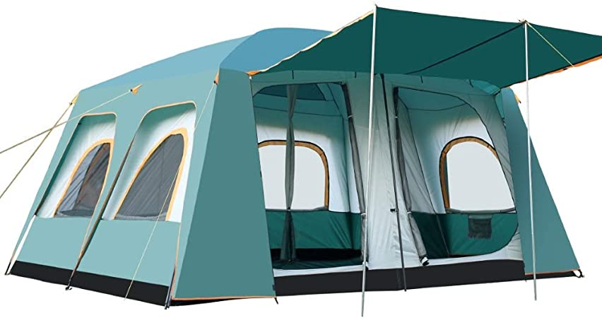 Guohailang Tienda de campaña 8-12 Tienda Familiar Tienda de 2 Habitaciones Fiesta al Aire Libre Camping Senderismo Mochila Impermeable y Duradera para la Escalada Que acampa yendo de Viaje: Amazon.es: Hogar