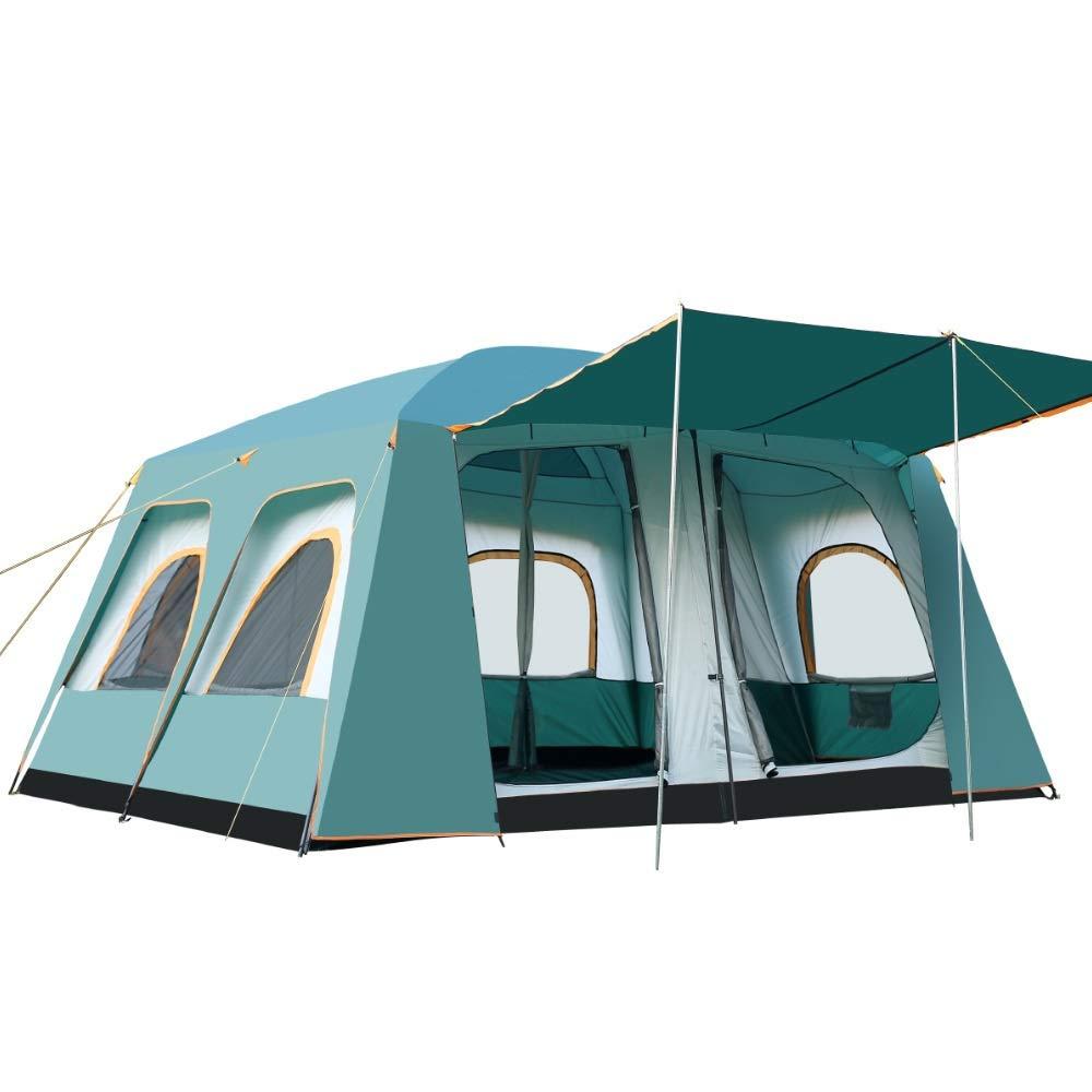 テント 8-12家族のテント2部屋のテント屋外パーティーキャンプハイキングバックパック防水と耐久性 (Color : 緑, Size : One Size) 緑 One Size