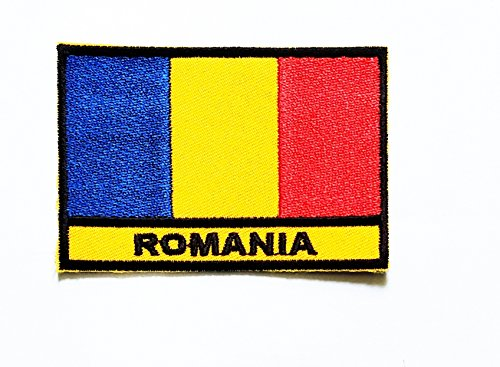 - Nipitshop Patches Romania Country National Flag Iron On Embroidered Patch Flag National Emblem Patch for T-Shirt Jeans Skirt Vests Scarf Hat Bag Fabric Costume