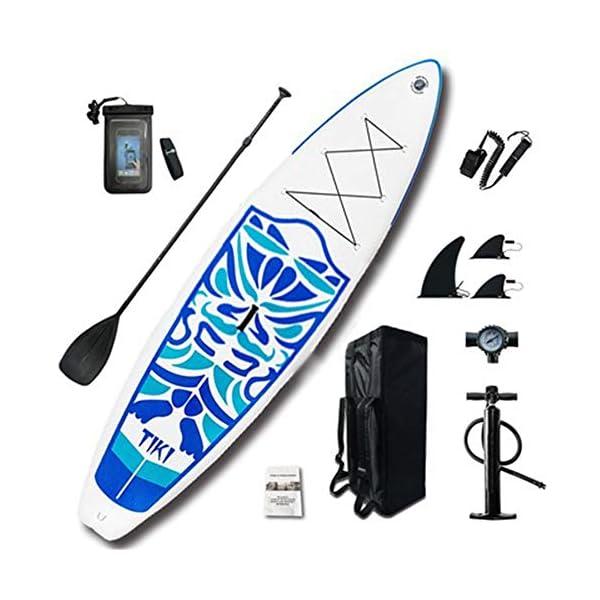 Stand Up Paddel Gonfiabile Fiume Viaggio Gonfiabile SUP Stand Up Paddle Consiglio Kit 6 Pollici Spessore Blu per Giovani… 1 spesavip