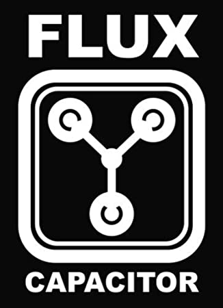 Warning Flux Capacitor In Use Vinyl Decal Sticker