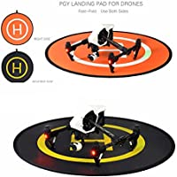 Amazingbuy - Portable Fast-fold Landing Pad Helipad for RC Drones, - DJI Phantom 2 3 4 Inspire 1 Mavic,Parrot,Syma,Wltoys,Hubsan,Cheerson Quadcopters, - 43 Inch in Diameter Flat Round Mat