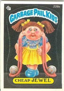 Cheap Jewel trading card sticker Garbage Pail Kids Topps 1986 - Cheap Warehouse