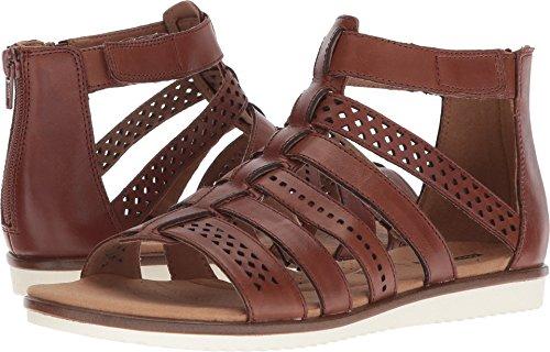 CLARKS Women's Kele Lotus Platform, Tan Leather, 7 Medium ()