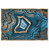 The Oliver Gal Artist Co. Dreaming about You Geode Framed Abstract Wall Art, 60'' x 40'', Blue