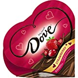 Dove Valentine's Candy Fruit Dark Chocolate Strawberry Heart Gift Box, 4 Ounce, Pack of 2