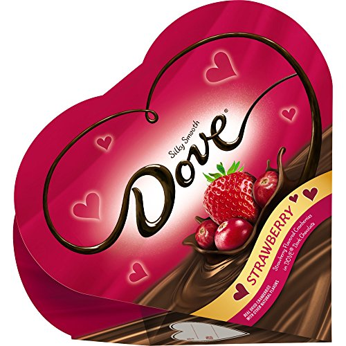 Dove Valentine's Candy Fruit Dark Chocolate Strawberry Heart Gift Box, 4 Ounce, Pack of 2 (Online Valentine Day Gift)