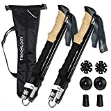 Trekology Trek-Z Trekking Hiking Poles - 2 pc Pack Collapsible Folding Walking Sticks