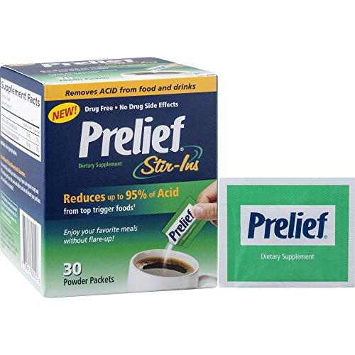 Prelief Acid Reducer Powder Stir-ins 30 Count Dietary Supplement  To Reduce up to 95% of the acid in High-Acid Food and Beverages